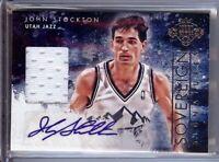John Stockton 2013-14 Court Kings Sovereign Signatures Jersey Auto Jazz #15 #/25