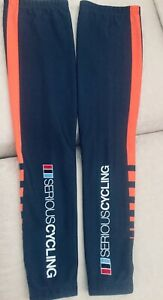 Ale Thermal Leg Warmers Men's Med. Drk Gry/Orange graphics-MADE in ITALY-NEW!