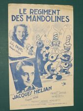 """Partition Chant """"Le régiment des mandolines"""" BETTI VANDAIR"""