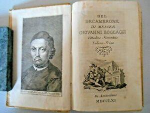 Libri Antichi - Giovanni Boccaccio , Il Decamerone - In Amstardamo 1761