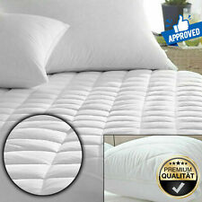 30cm Deep Quilted Mattress Protector 100% Cotton Single Double King Size Covers
