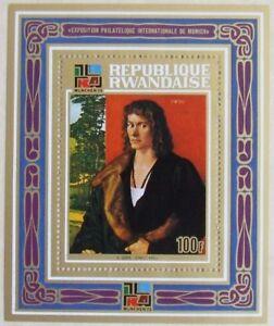 Rwanda -IBRA_Paintings from Durer1 S/Sh MNH, RW 036