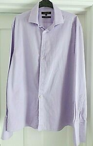 """JAEGER FINE LILAC DOUBLE CUFF SHIRT  SIZE 16.1/2 44/6"""" CHEST 31"""" LENGTH"""