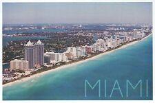 Miami Florida Aerial, Beach, Hotels, Atlantic Ocean etc., Fl - Modern Postcard