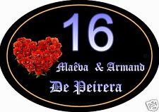 PLAQUE NUMERO DE MAISON ou BOITE AUX LETTRES ou PORTE réf 37 choix inscription