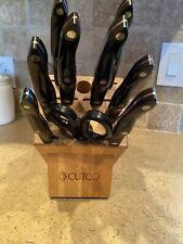 CUTCO Galley Knife Set With Wooden Block, Set Of 9 Pieces