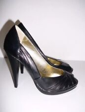 Steve Madden Leather Peep Toe Heels -Sz 5.5