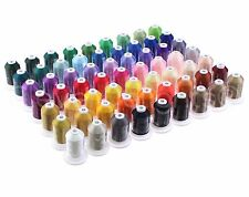 63 Color Embroidery Machine Thread Set - Jumbo 1100 Yd Spools - Polyester 40wt