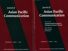 JOURNAL OF ASIAN PACIFIC COMMUNICATION 2012 VOL. 22 NUMBERS 1 & 2