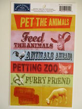 Karen Foster Design Stickers - Pet the Animals - petting zoo  farm