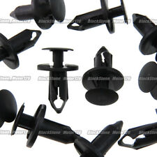 100 x 8mm Hole Plastic Rivet Fastener Push Clips Black Nylon For Car Auto Fender
