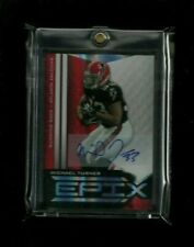Michael Turner 2010 Epix RED REFRACTOR Auto #/5! RARE! Falcons! Chargers HUSKIES