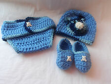 DIAPER COVER.BABY.BOY.CROCHET SET.2/5 MONTH OLD.BABY HAT.MOCCASIN.BABY SHOWER,