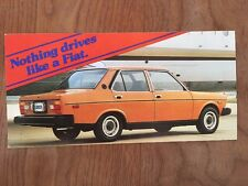 FIAT 131 4-DOOR COUPE ORIGINAL Large Factory Postcard