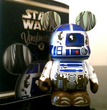 "DISNEY VINYLMATION 3"" STAR WARS 4 R2-D2 DAGOBAH MUDDY EMPIRE STRIKES BACK FIGURE"