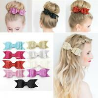 Baby Women Hairpin Bow Knot Sequined Hair Clip
