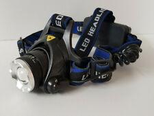LED Zoom Kopflampe ( Cree XML Headlamp 900 Lumens)& Ladegerät & 2x18650 Akku