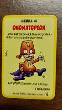 Super Munchkin Onomatopeon Promo Card Steve Jackson Games John Kovalic Art