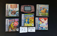 NINTENDO GAMEBOY ADVANCE PINK - CONSOLE + GAMES BUNDLE A - FREE UK POST