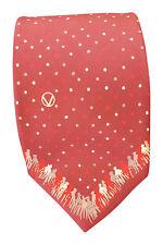 * VALENTINO * Hommes Cravate en soie rouge à pois répéter (56 L)