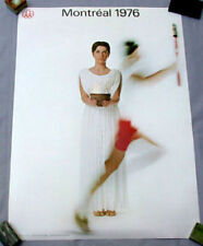 "1976 Montreal Olympic Torch Relay Woman Art Poster Original Size: 34"" x 22"" Mint"