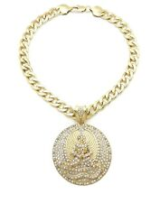 """NEW ICE BLING 2PAC EUPHANASIA PENDANT WITH 20"""" 11mm CUBAN CHAIN"""