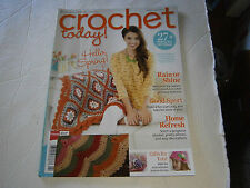 Crochet Today May 2014 Pattern Book Magazine Flower Afghan Hat Scarf Bag Cozies