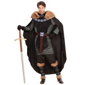 Wikinger-Kostüm mit Umhang Ritter Mittelalter-Kostüm Prinz mit Fellumhang L 52
