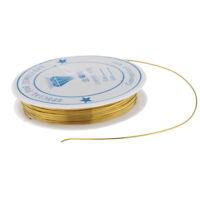 1 rotolo di filo di rame artigianale con corde di perline placcate in oro