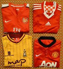 Arsenal, Bradford, Manchester United, Liverpool, 4 Shirt lot, Kids, boys Large
