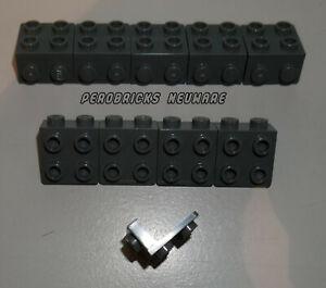 Lego 10x Winkelplatte invers dunkelgrau 1x2 - 2x2 #44728 NEUWARE