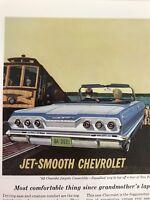 Jet Smooth Chevrolet Vtg 1963 Print Ad Convertible San Francisco
