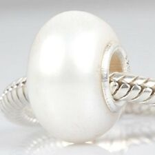 Pearl Charm Bead 925 Sterling Silver Core