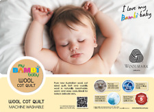 Bambi Baby Machine Washable Wool Cot Quilt