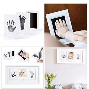 Baby FootPrint Handprint Nontoxic Inkless Footprint Handprint Kit Black Ink pads