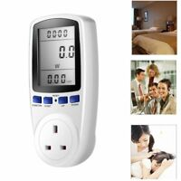 LCD  Power Consumption Meter Energy Monitor Calculator Usage Plug In Electricity
