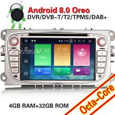 "AUTORADIO DVD 8"" ANDROID 8.0 OctaCore 4GB-32GB FORD FOCUS C S MAX MONDEO GALAXY"