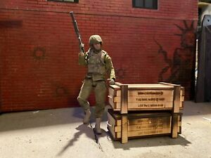1/12 scale Action Figure Military Ammo crate box (Set of 2) Diorama Accessory