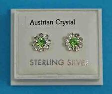 New Ladies Sterling Silver CZ Studs Earrings 12mm 925 Hallmarked