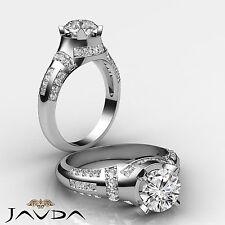 Diamante Redondo Exquisito Clásico Anillo de Compromiso GIA F VS2 14k Oro Blanco