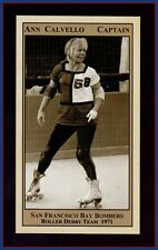 Ann Calvello Banked Track Roller Derby star '71 San Francisco Bay Area Bombers