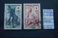 FRANCOBOLLI FRANCIA USATI N°1048/49 (F10391)