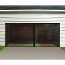 Double Garage Door Screen 16 Ft. W X 7 Ft. H Magnetic Closure Weighted Bottom