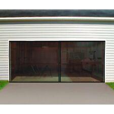 Double Garage Door Screen 16 Ft. W X 7 Ft. H Magnetic Closure Weighted Bottom