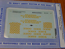 Microscale Decal HO  #MC-4167 Reading Blue Mtn &Northern Locos Diesel Dates:1991