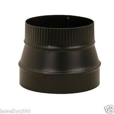 "6"" X 8"" 24 Gauge Heavy Duty BLACK Stove Pipe REDUCER"