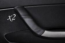 Costura negra se adapta a Peugeot 308 2007-2012 2x Manija De Puerta De Cuero cubre sólo