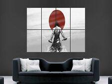 Japanese samurai warrior art mural photo poster géant énorme image