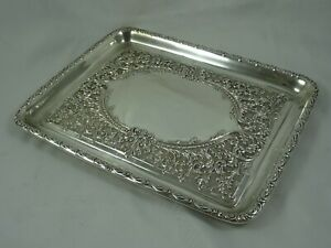 FINE solid silver DRESSING TABLE TRAY, 1906, 326gm - WALKER & HALL