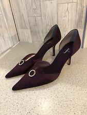 Jasper Conran Púrpura Elegante Fiesta Boda Zapatos Con Hebilla Diamante 6/39